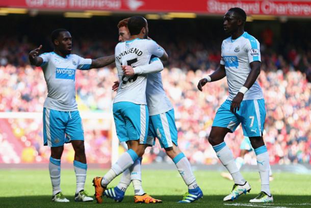 Colback celebrates pulling Newcastle level. (Picture: Getty Images)