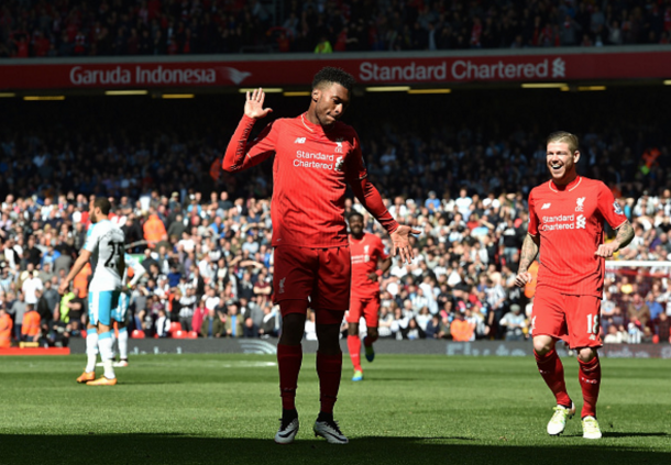 Sturridge celebrates his early opener. (Picture: Getty Images)