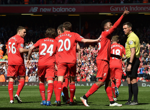 Sturridge celebrates the game's opening goal after just 67 seconds. (Picture: Getty Images)