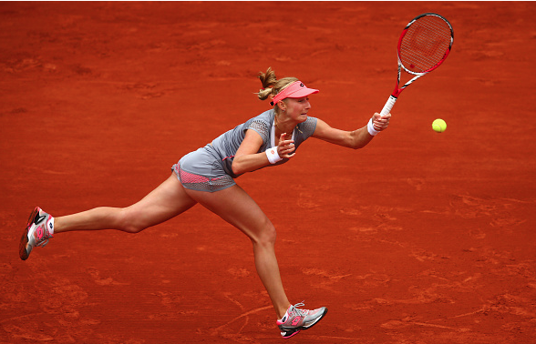 Ekaterina Makarova in the French Open last year. Source: Getty Images/Clive Mason