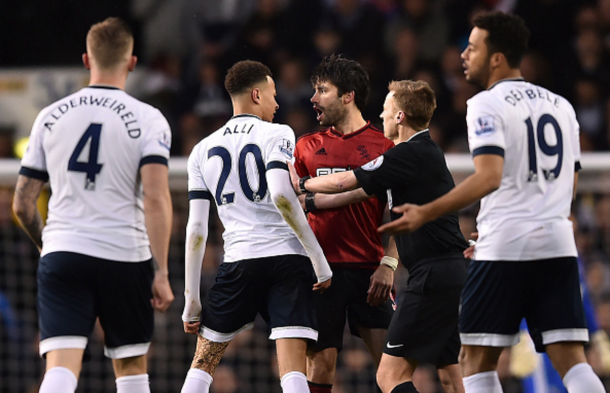 Alli and Yacob square up after the incident on Monday night. (Picture: Getty Images)