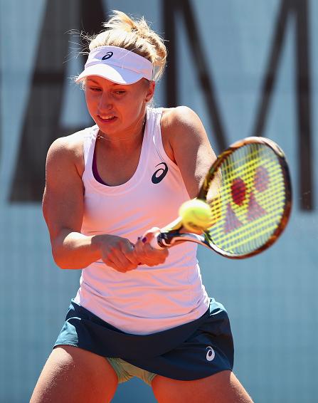 Daria Gavrilova striking a backhand. Photo:Getty Images/Clive Brunskill