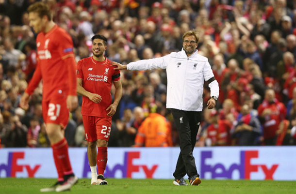 Emre Can could feature for the Reds for the first time in almost a month. (Picture: Getty Images)
