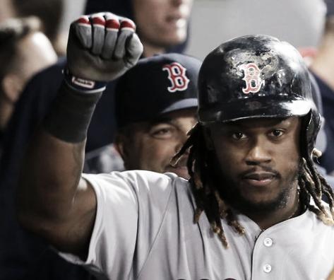 Boston's Hanley Ramirez celebrates a home run in Tuesday's loss to the White Sox | AP