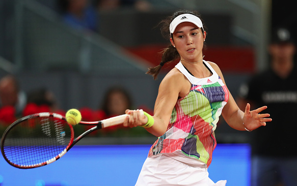 Louisa Chirico in action today. Photo:Getty Images/Clive Brunskill