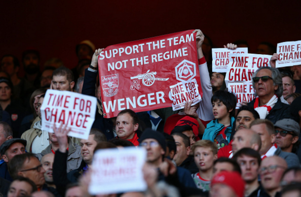 Arsenal's supporters have been divided over Arsene Wenger's future. (Picture: Getty Images)