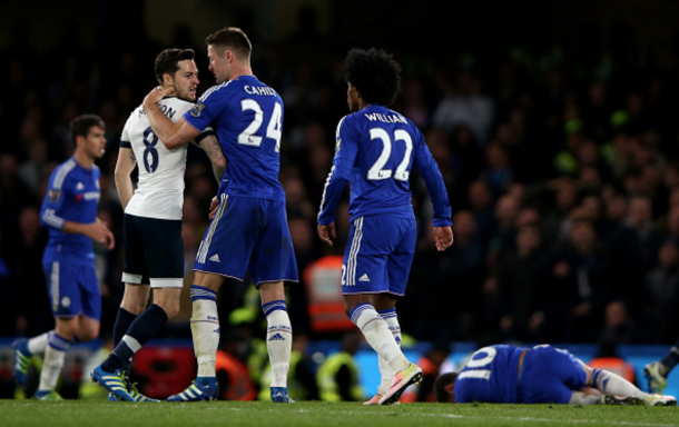 The fiery fixture saw both sides rack up the yellow cards. (Picture: Getty Images)