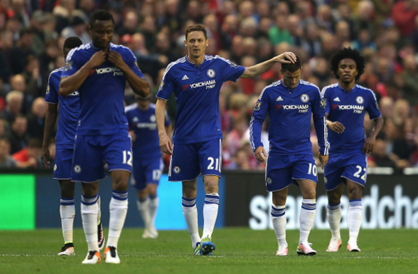 Chelsea wheel away back to their half after Hazard opens the scoring. (Picture: Getty Images)
