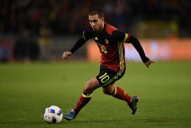 Hazard, sporting the captain's armband, in a recently friendly against Italy. (Picture: Getty Images)