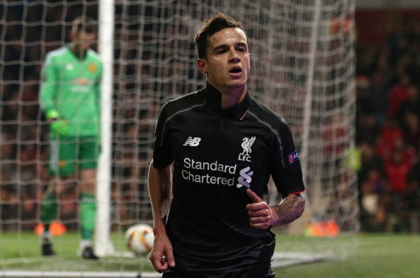 Coutinho's stunning solo goal away at United earned him the Goal of the Season award. (Picture: Getty Images)