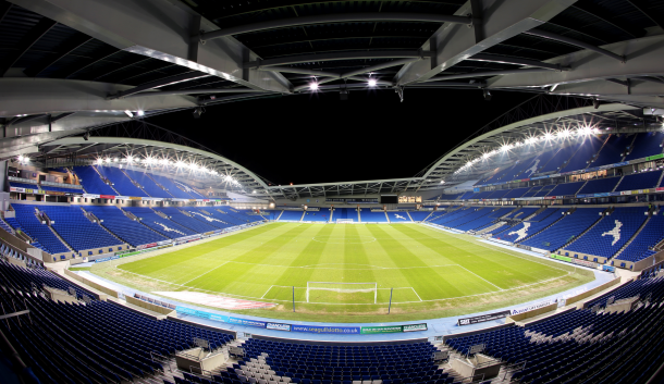 Brighton are desperate for supporters to get the Amex bouncing this evening. (Picture: www.techweekeurope.co.uk)