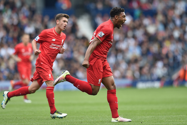 Ibe celebrates levelling the scores before the half-hour mark. (Picture: Getty Images)