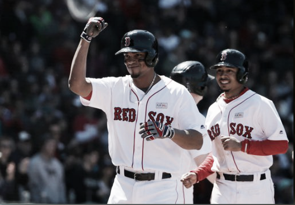 Xander Bogaerts leads the AL with 53 hits. | AP
