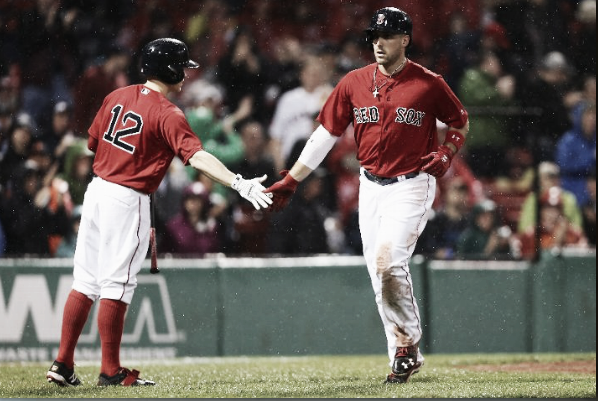Travis Shaw has scored nine runs over the last week, tied with four others for tops in the majors. | Getty
