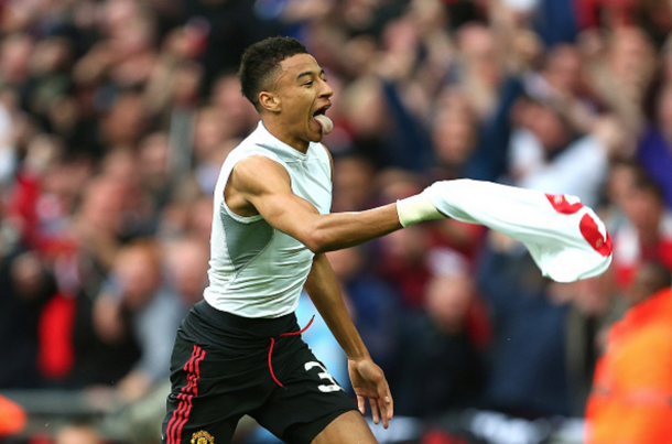 Lingard celebrates the goal that won United their 12th FA Cup. (Picture: Getty Images)