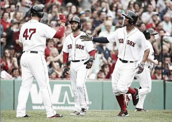 Travis Shaw and Xander Bogaerts both collected two hits on the afternoon. | Getty
