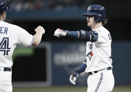 Josh Donaldson hammered his 12th and 13th home runs of the season. | Getty