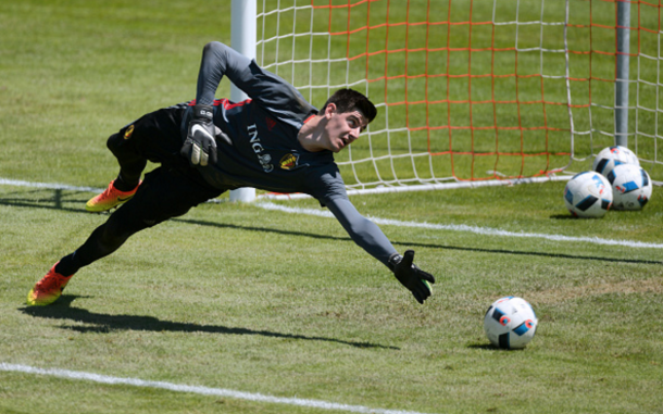 Courtois will maintain his position between the sticks for Belgium at the Euros. (Picture: Getty Images)