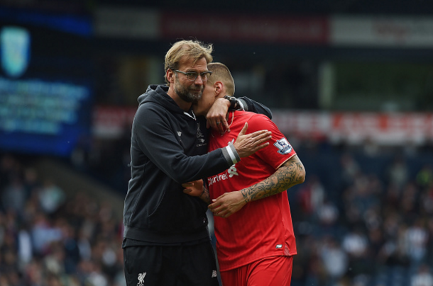 Skrtel appeared to bid an emotional farewell to Liverpool fans last month. (Picture: Getty Images)