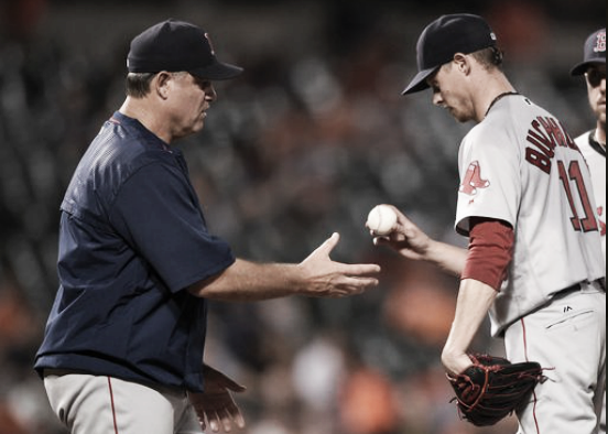 Will Clay Buchholz regain his spot in the starting rotation? | AP