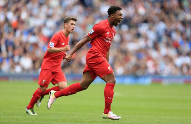 Ibe scored his first Premier League goal for Liverpool on the final day of the season. (Picture: Getty Images)