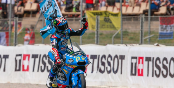 Navarro celebrates his win. (Photo: MotoGP)