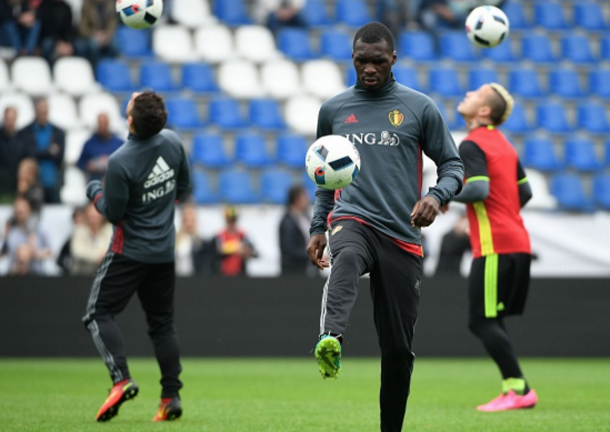 Benteke trains with Belgium in a recent training camp in Genk. (Picture: Getty Images)