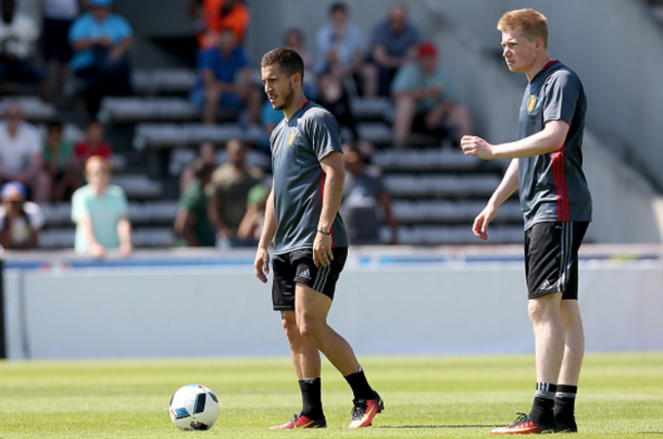 Hazard believes himself and De Bruyne can help spearhead the talented Belgians this summer. (Picture: Getty Images)