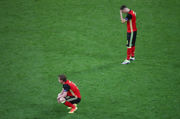 Belgium were left crestfallen after their underwhelming loss to Italy. (Picture: Getty Images)