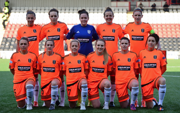 The Glasgow City team lining up in the Women's Champions League. (Picture: Getty Images)
