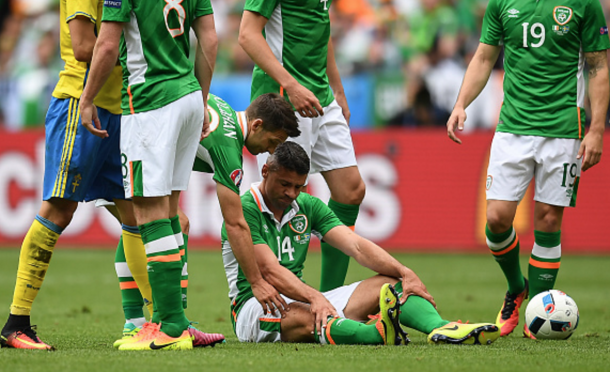 Jon Walters was forced to limp off through injury and will miss out of Saturday's game. (Picture: Getty Images)