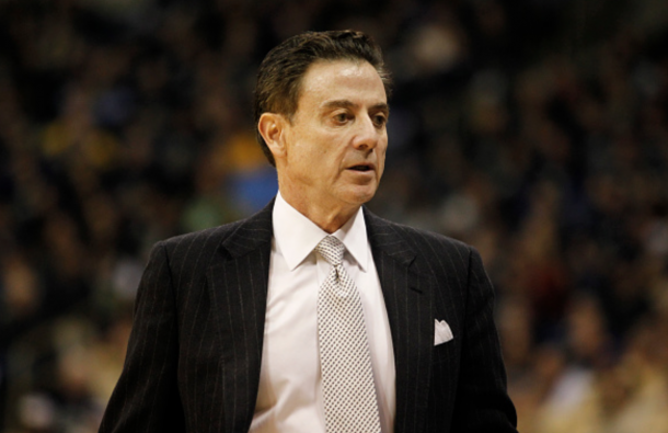 Rick Pitino of the Louisville Cardinals in action during the game against the Pittsburgh Panthers at Petersen Events Center on February 24, 2016 in Pittsburgh, Pennsylvania. (Photo by Justin K. Aller/Getty Images)
