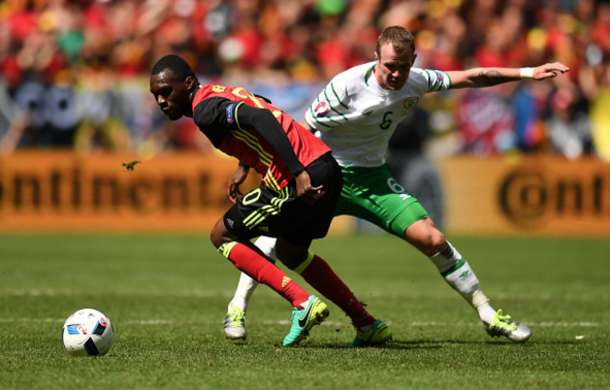 Benteke came off the bench for his first minutes of the tournament. (Picture: Getty Images)