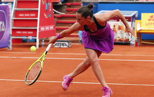 Roberta Vinci during the Nuremberg Open,where she dropped in the second round. Photo:Getty/Alex Grimm