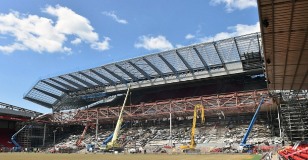 A photograph of the work on the Main Stand as of early June. (Picture: Getty Images)