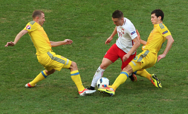 Zielinski in action for Poland in their 1-0 Euro 2016 group win over Ukraine earlier this week. (Picture: Getty Images)