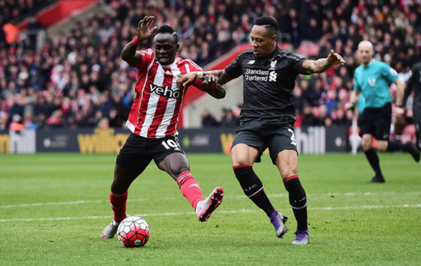 Mane up against former Southampton defender Clyne back in March. (Picture: Getty Images)