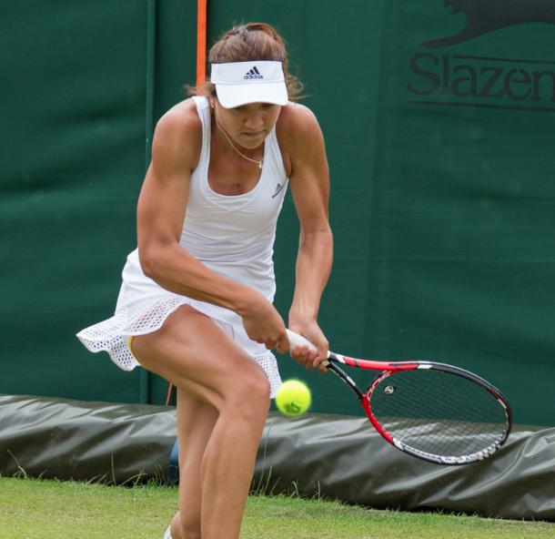 Tig during the Wimbledon 2015 qualifying. Source:Google/David Illif