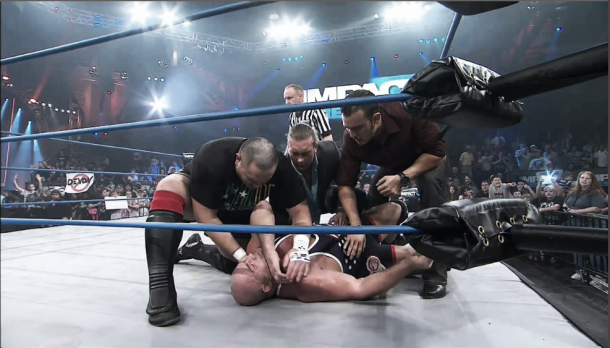 Kurt Angle said he broke his neck four times in two years (image: youtube.com)