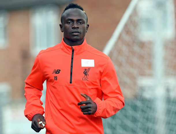 Mane took part in his first training session as a Liverpool player on Saturday. (Picture: Getty Images)