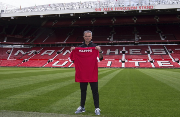 Mourinho after being unveiled at his first press conference earlier in the week. (Picture: Getty Images)