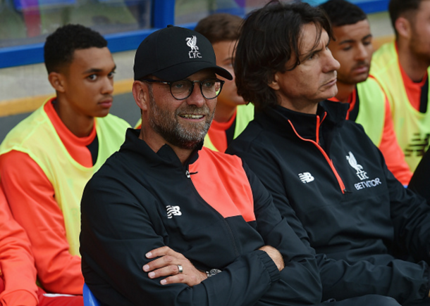 Klopp made the most of his options, using 21 different players on the evening. (Picture: Getty Images)