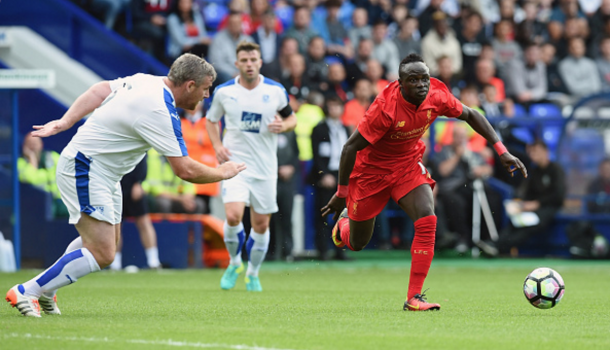 Mane made his uncompetitive debut against Tranmere on Friday night. (Picture: Getty Images)