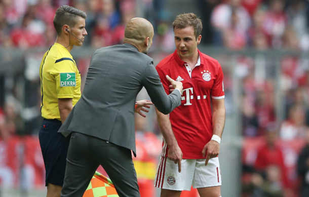 Götze's stock as a star fell under Guardiola as he played less and less regularly each season. (Picture: Getty Images)