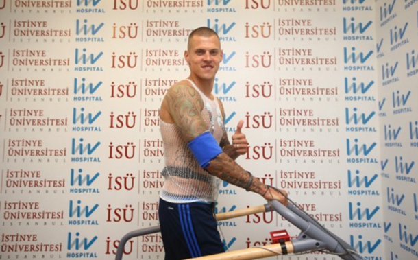 Skrtel undergoing his Fenerbahce medical on Tuesday. (Picture: Getty Images)