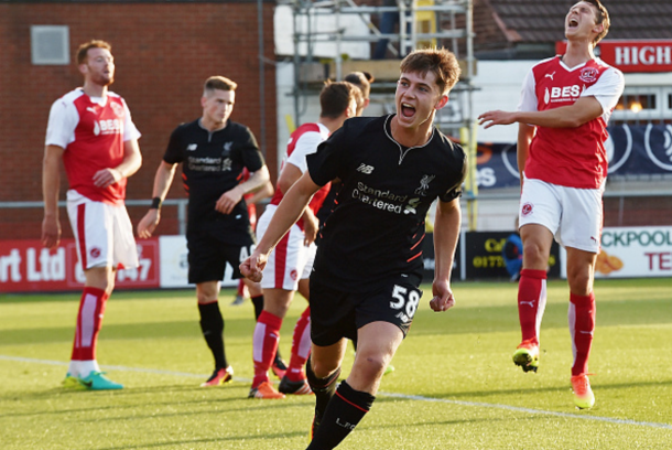 Woodburn after scoring his first goal for Liverpool. (Picture: Getty Images)