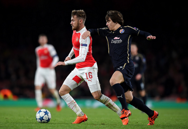 Coric in action against Arsenal last season in the Champions League. (Picture: Getty Images)