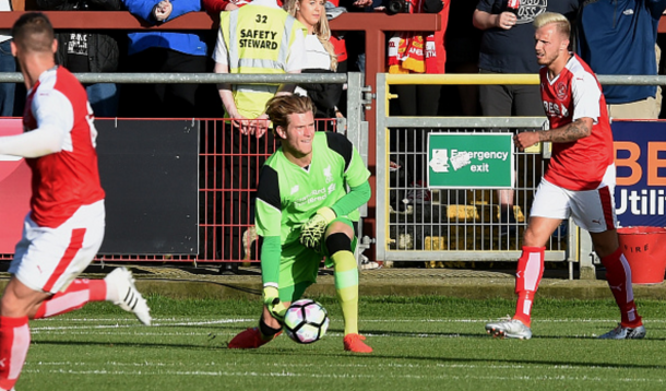 Karius in action for Liverpool in their 5-0 friendly win at Fleetwood Town on Thursday. (Picture: Getty Images)