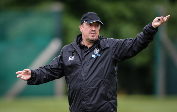 Benitez in Newcastle's pre-season training camp in Ireland earlier this week. (photo: Getty Images)