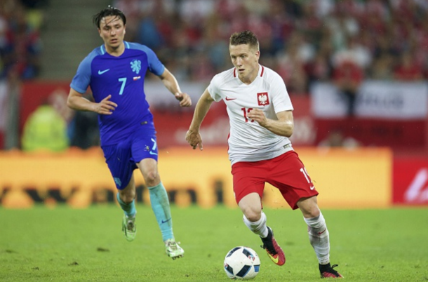 Zielinski in action for Poland in an international friendly against Netherlands. (Picture: Getty Images)